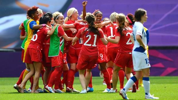 Day 13 (August 9th, 2012) - Bronze - Women's Soccer - Canada's first-ever medal in women's soccer - first traditional sport team medal for Canada in 76 years at the Olympics