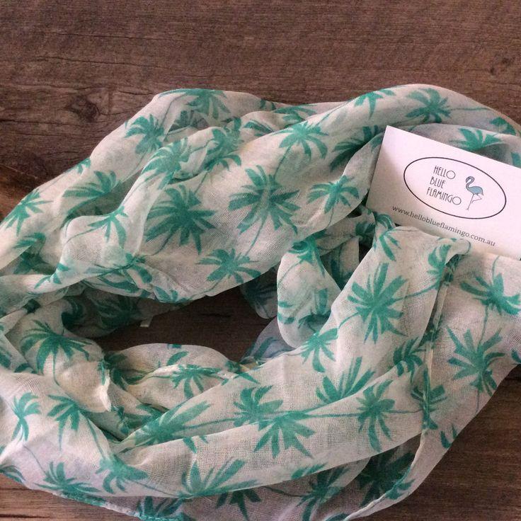 Scarf - Cotton - Palm Tree Infinity Scarf