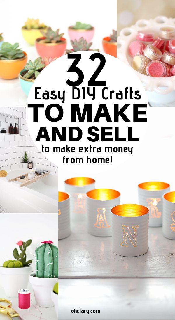 32 handgefertigte Bastelideen zum Verkaufen. Diese tollen DIY-Projekte zum Basteln und Verkaufen sind …   – Craft Ideas