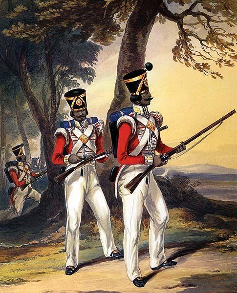 Battle of Sobraon - The Sikh wars. Bengal Native infantry