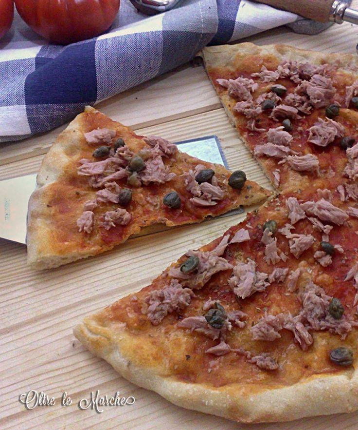 Pizza tonno e capperi   base per pizza, capperi, farina per pizza, grano duro, impasti con farina di grano duro, impasti con grano duro, Impasti per pizza,