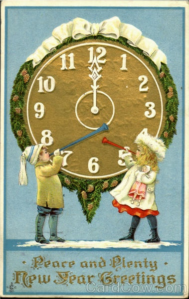 Peace And Plenty Clock ~ New Year Greetings. ...And may all my pinterest buddies have both of these this year. :D