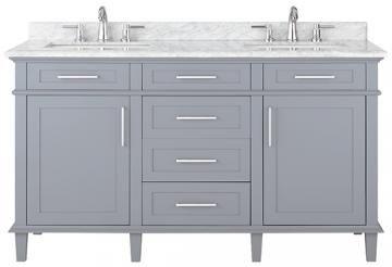 Sonoma Double Vanity - Double Vanity - Modern Bathroom Vanities - Modern Bathroom Vanity - Bath Vanity Cabinets | HomeDecorators.com