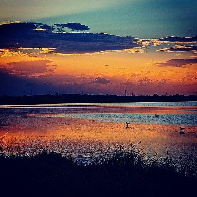 La poesia delle Saline di Cervia al tramonto