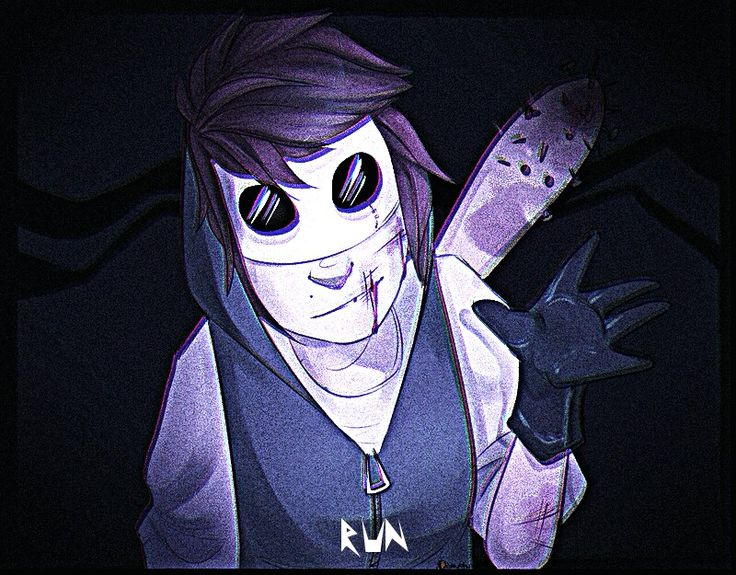 Run. GIF made by the one and only 0Katvian. Not many people on pinterest are posting pictures of this Creepypasta named Chris she's pretty cool.