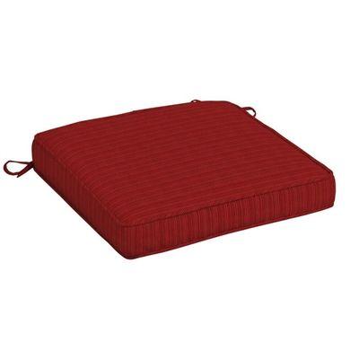 allen + roth Red Premium Woven Dining Chair Cushion