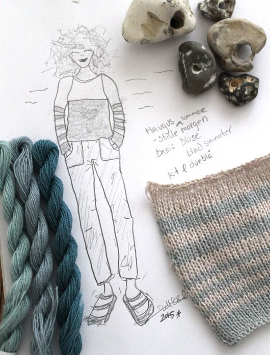 LIVA Inspiration to knitting pattern size S-XXL Pale stribes My design  Dorthe Hass/www.garn-iture.dk