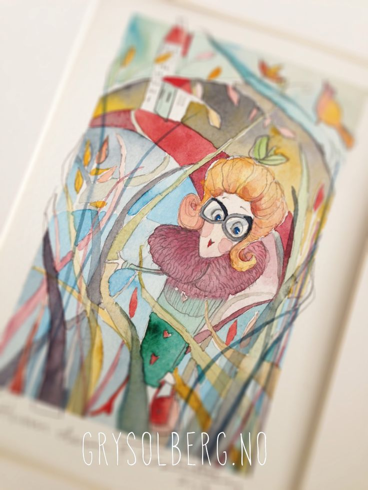 #illustration #watercolor  #artwork #exhibition #funny_lady #gift #grysolberg