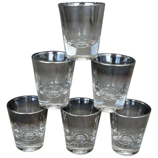 Dorothy Thrope Mid Century Modern Shot Glasses - Set of 6 ($50) ❤ liked on Polyvore featuring home, kitchen & dining, drinkware, glasses, shot glass, glass drinkware, dorothy thorpe glasses, shot-glass and dorothy thorpe