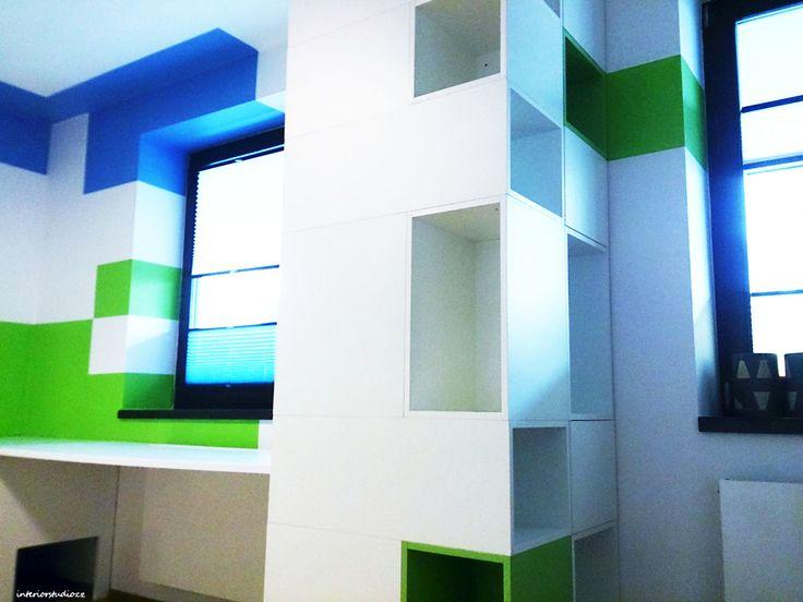 Minecraft Dětský pokoj, v rezidenčním projektu Central Park Praha v realizaci... Návrh: www.interiorstudio.cz