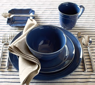 Cambria Dinnerware from Pottery Barn has a new shade of blue - Ocean