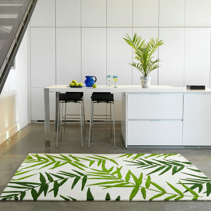 Debenhams Green Eden Palm Printed Rug At