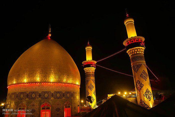 The holy shrine of the prophet Muhammad's grandson, Imam Hussain (PBUH) in Karbala, Iraq- day of Ashura and Muharram
