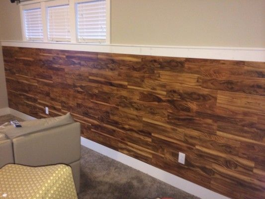 Wainscoting Laminate flooring on half wall - Best 25+ Laminate Flooring On Walls Ideas On Pinterest Laminate