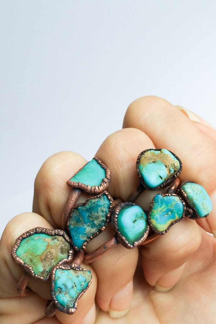 What would summer be without a chunky turquoise ring (or eight)?