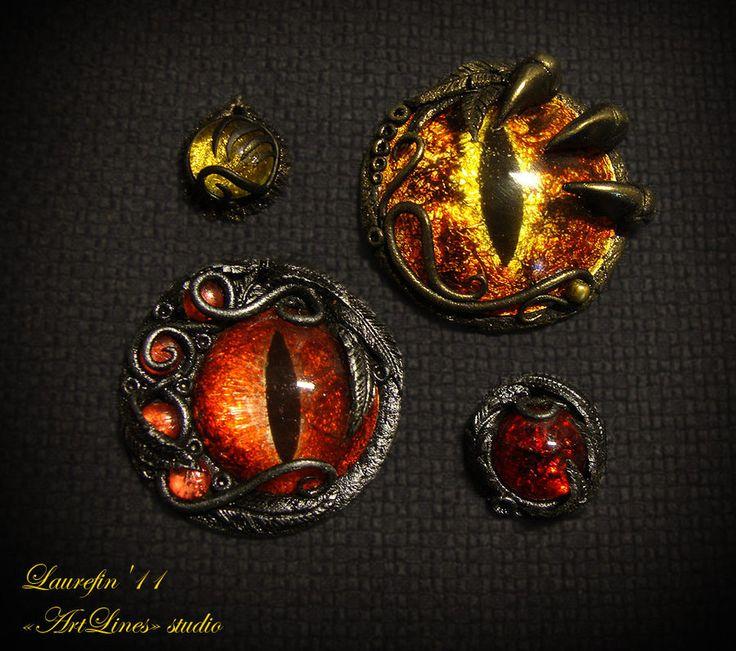 Eyes and glass in clay by Laurefin-Estelinion.deviantart.com on @deviantART