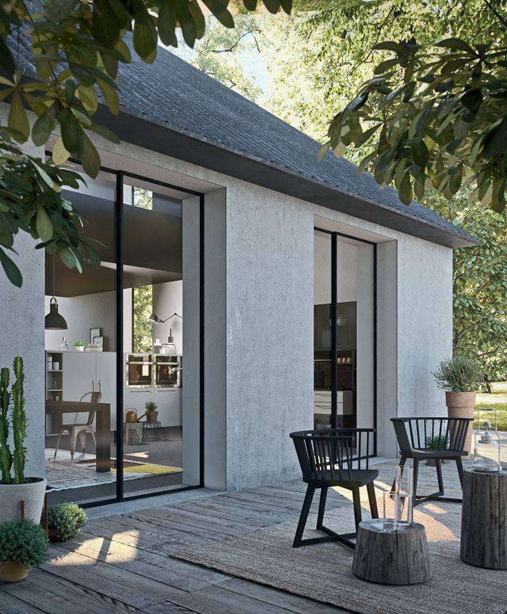 Modernes minimalistisches Haus