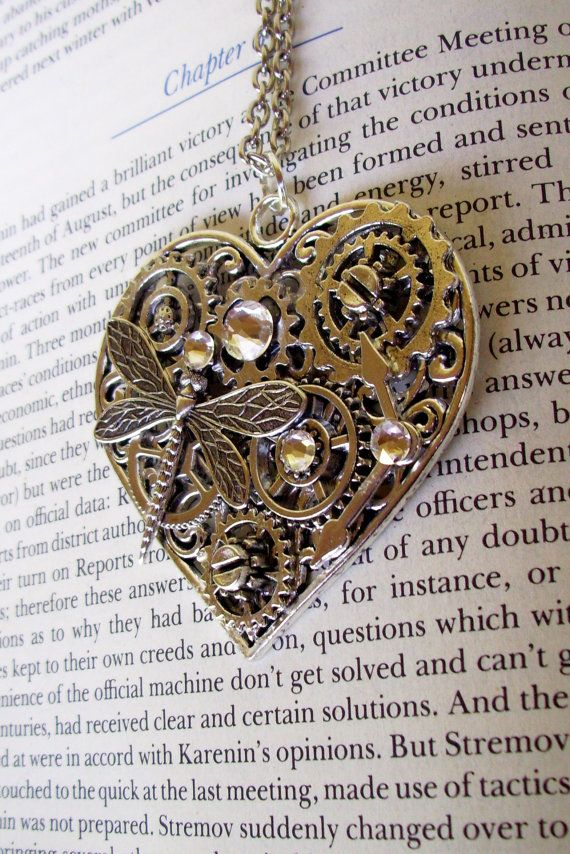 Steampunk Heart Pendant HP605 Large Silver by DesignsByFriston