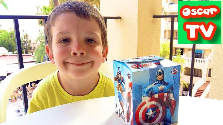 Конфетный ЧЕЛЛЕНДЖ Коробочка с сюрпризом Капитан Америка, угадываем Слад...