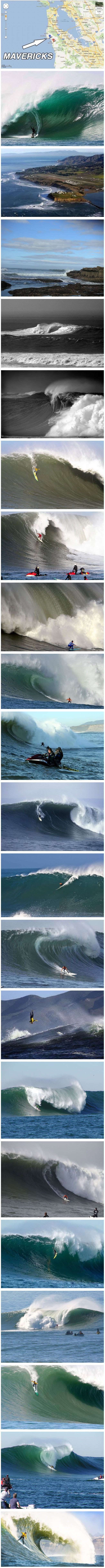 Mavericks | Half Moon Bay CA | I want photograph this and maybe get a pic with me and the person surfing it...or be the person to surf it