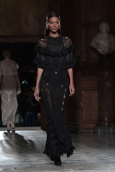 Liya Kebede Photos Photos - Liya Kebede walks the runway during the Givenchy Menswear Fall/Winter 2017-2018 show as part of Paris Fashion Week on January 20, 2017 in Paris, France. - Givenchy : Runway - Paris Fashion Week - Menswear F/W 2017-2018