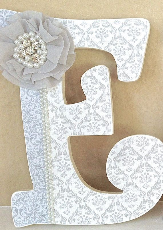 Custom Wooden Nursery Letters - Baby Girl Nursery Decor- Personalized Name- wall letters- any color, theme, bedding-The Rugged Pearl on Etsy, $20.00