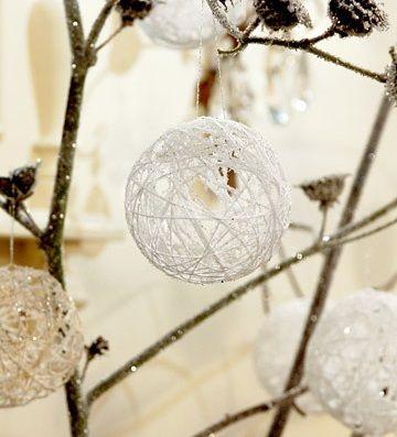 DIY: Bolas de Navidad hechas con yute :) #navidad #decoracion #handmade
