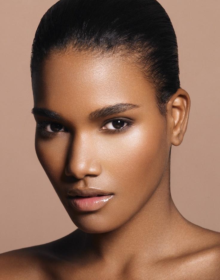 Beautiful black model Black girl makeup tutorial, Black