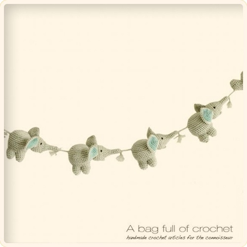 cute = baby elephant garland --> Somebody have got to make this for me, when the time comes ;)