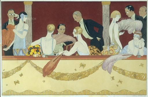 , 1920s, Art Deco, Costume, Dress, Elegant, Evening, Fashion, Men, Theatre, Women | Art deco ...