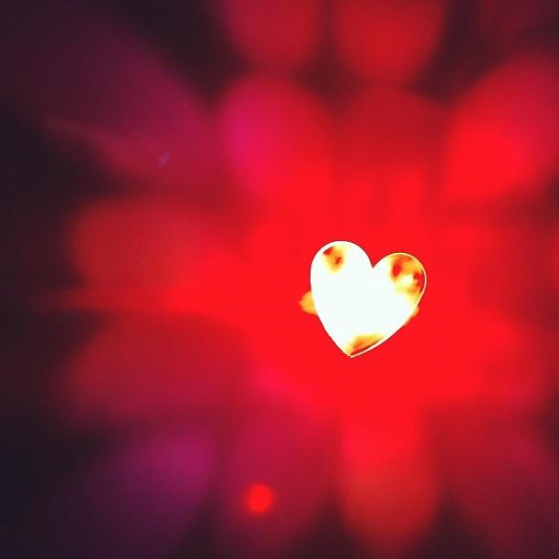 Fan Photo: We heart you too! Blinder 1 #burninglove    http://www.knog.com.au/gear-blinder-lights/blinder-1-heart.phps