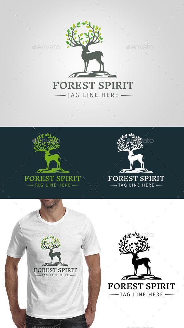 Forest Spirit Logo Template by vraione Description: Forest spirit logo concept. ...
