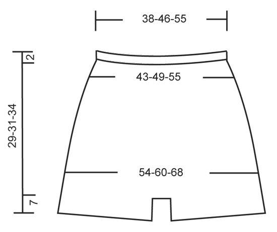 """Shorts de ganchillo DROPS con punto alto y patrón de calados en """"Safran"""". Talla: S - XXL. ~ DROPS Design"""