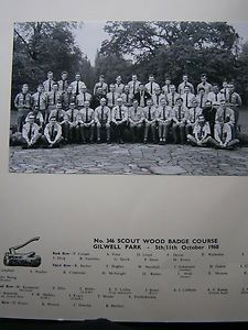 Baden Powell Scout Gilwell Park Wood Badge Course October 1968