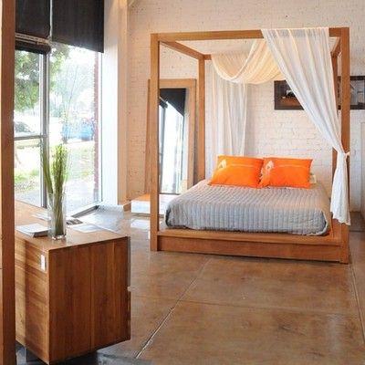 #PCH #canopy #bed #dresser #teak #wood #furniture #modern