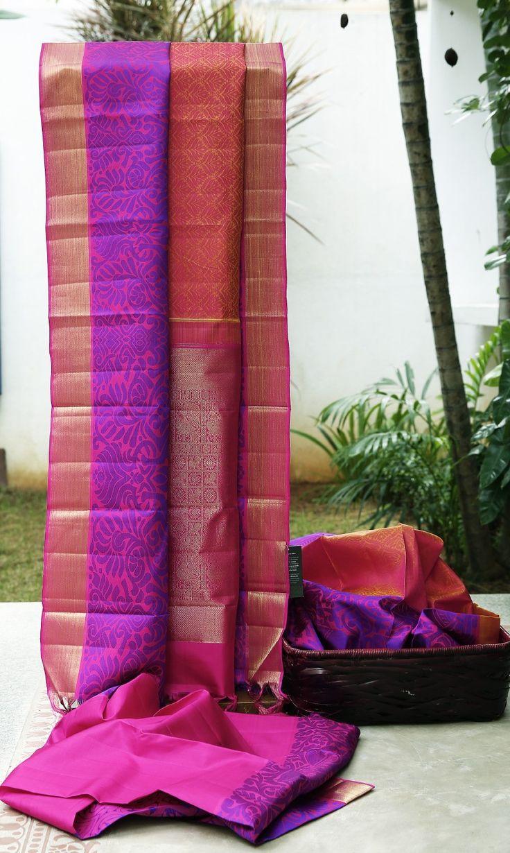 Lakshmi Handwoven Kanjivaram Silk Sari 000267 - Sari / All Saris - Parisera
