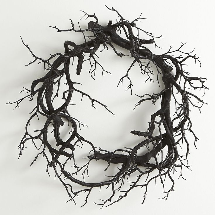 This spooky wreath features ZERO leaves, greenery, flowers, pinecones, bows…