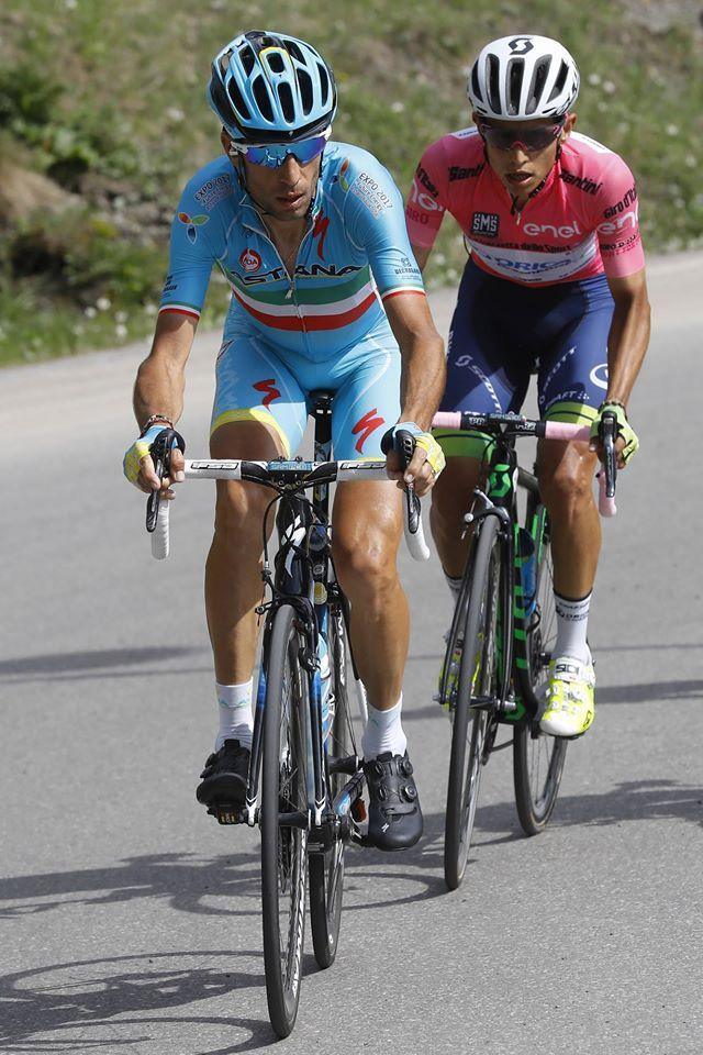Vincenzo Nibali, Esteban Chavez Stage 20 Giro d'Italia 2016 @bettiniphoto