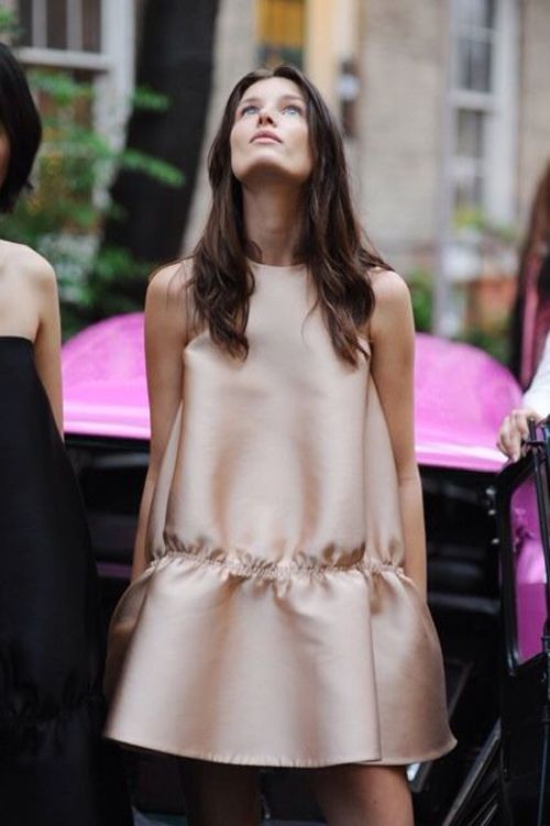 This blush dress is such a pretty look for the season ahead.
