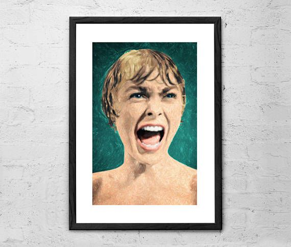 Psycho Shower Scene Painting Psycho Movie Alfred