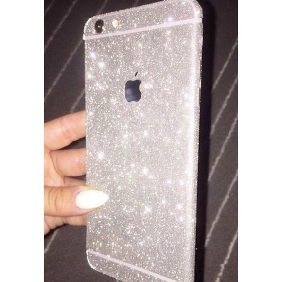 Silver Protective Glam Decal IPhone 6/6s Plus Brand new! Protective Skin Sticker For iPhone 6/6s PLUS Accessories Phone Cases