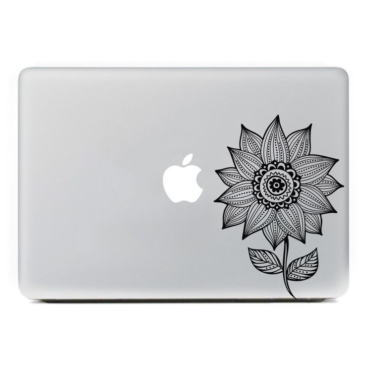 Amazoncom ICasso Sunflower Removable Vinyl Decal Sticker Skin - Custom vinyl decals for macbook pro