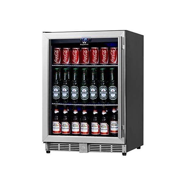 Kingsbottle Beverage Cooler Stainless Steel With Glass Door