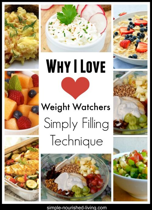 why I love weight watchers simply filling technique. No counting points, clean eating focused and so much more! http://simple-nourished-living.com/2013/09/i-love-weight-watchers-simply-filling-technique/