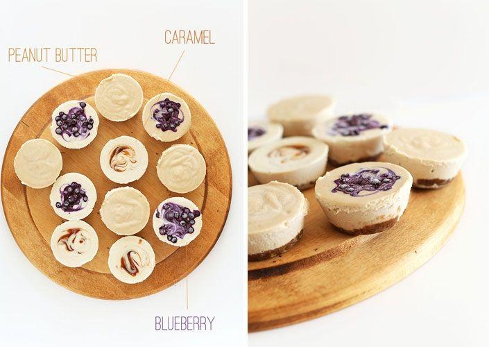Nepečené mini cheesecaky bez mlieka a múky   Vegánsky RAW recept