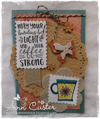 Handmade card by Ann Custer using the Rise and Shine digital set from Verve. #vervestamps