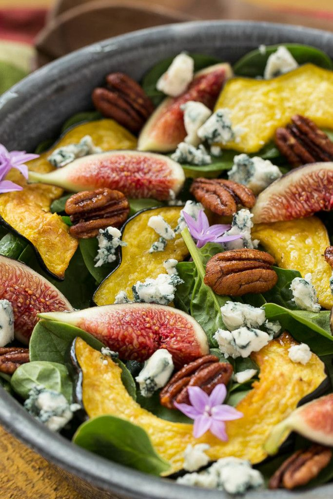 Fig & spinach salad