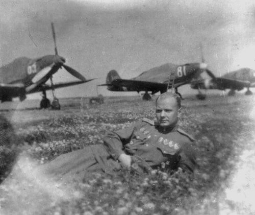 Hero of the Soviet Union Anatoliy Vasilevich Kislyakov (via)    the aircraft behind him are American Bell P-39 Airacobras, obtained through the Lend-Lease program - approximately 4,600 of the 9,500 produced P-39s ended up in the Soviet Union, and used to immense effect by The Red Air Force
