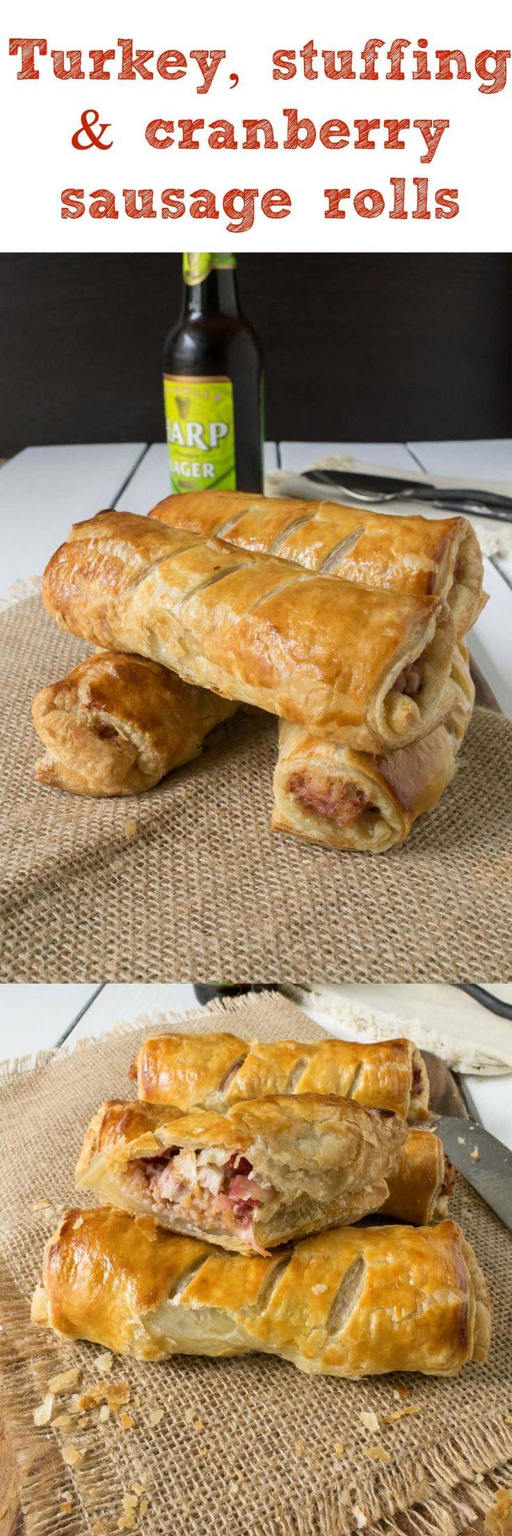 Turkey stuffing cranberry sausage rolls