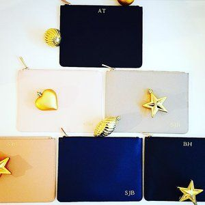 Feeling festive today with a pouch in each of our colours, loving them all! // free delivery Australia-wide until the end of 2016 #itsallinthedetails #pouch #clutch #flatlay #bag #bags #handbag #handbags #fashion #clutchbag #onlineshopping #style #accessories #personalised #giftsforher #personalisedgifts #christmasgift #christmasgifts #weddingplanning #brides #bridesmaid #wedding #weddings #bridal #engaged #imgettingmarried #bridetobe #onlineshopping #thenewlook #thenewlook_aus